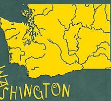 Washington State Map by FinlayMcNevin