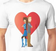 Partner with hearts Unisex T-Shirt