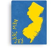 New Jersey State Outline Canvas Print