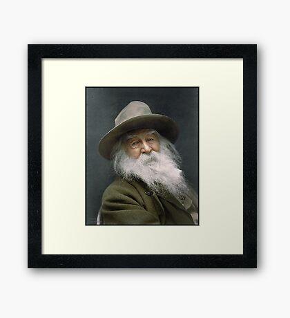 Walt Whitman, 1887 Framed Print