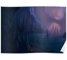 Sunlit Cave Poster
