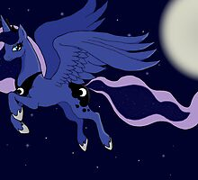 MLP FIM Princess Luna Print by Lily Alford