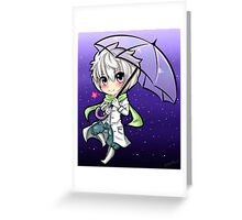 Clear Star Fall Greeting Card