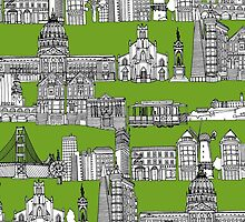 San Francisco green (card) by Sharon Turner