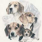 Beagle w/Ghost by BarbBarcikKeith