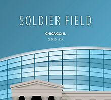 Minimalist Soldier Field - Chicago, IL by pootpoot