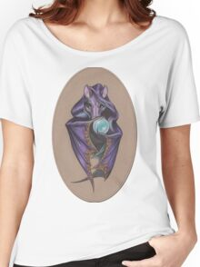 Wizard Bat (with Crystal Ball) Women's Relaxed Fit T-Shirt
