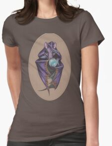 Wizard Bat (with Crystal Ball) Womens Fitted T-Shirt
