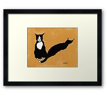 Tuxedo Cat in Strong Noon Light Framed Print