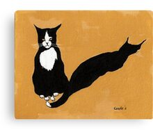 Tuxedo Cat in Strong Noon Light Canvas Print