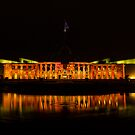 New Parliament Canberra Enlighten  2014 by Kym Bradley