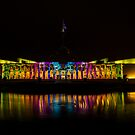 New Parliament House  Canberra Enlighten  2014 by Kym Bradley