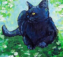 Black Cat Impressionism by Carole Chapla