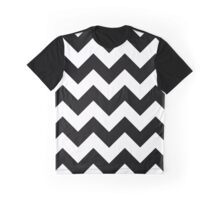 Zigzag Pattern, Chevron Pattern - White Black Graphic T-Shirt