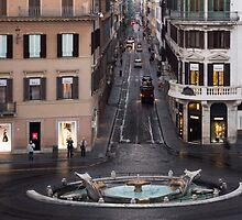 Via Condotti Waking Up - Rome, Italy by Georgia Mizuleva