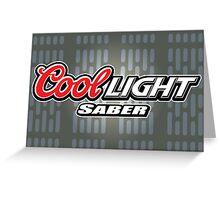 Cool Lightsaber Greeting Card
