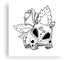 Ivysaur de los Muertos   Pokemon & Day of The Dead Mashup Canvas Print