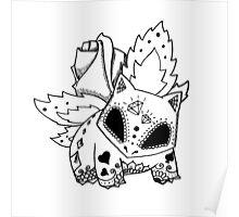 Ivysaur de los Muertos | Pokemon & Day of The Dead Mashup Poster
