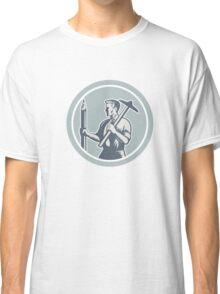 Architect Draftsman Circle Retro  Classic T-Shirt