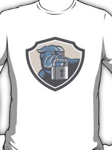 Bulldog Dog Mongrel Padlock Shield T-Shirt