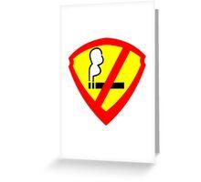 Super Anti Smoking Hero Greeting Card