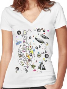 led zep III Women's Fitted V-Neck T-Shirt