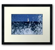 Looks Like Snow Ahead Captain Framed Print