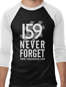 Jimmy Ruined The Show #159NeverForget (White Font) Men's Baseball ¾ T-Shirt