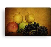 Autumn Fruits Canvas Print