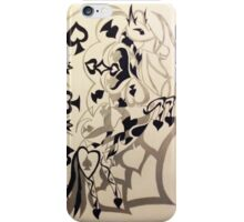 spade of horses iPhone Case/Skin