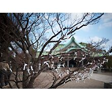 Omikuji fortunes Photographic Print