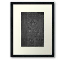 Masonic Gravestone Framed Print