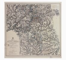 Civil War Maps 1107 Maps illustrating the military operations of the Atlanta campaign 1864 07 One Piece - Short Sleeve
