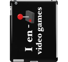 I Enjoy Video Games iPad Case/Skin
