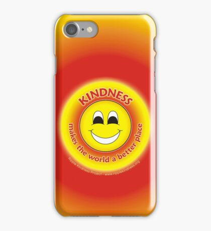 Kindness Makes The World a Better Place - Yellow Cases iPhone Case/Skin