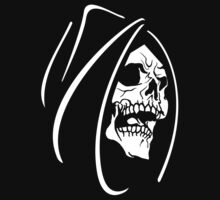 "Skull ""Grim Reaper"" Black Hooded Bones Man by artkrannie"