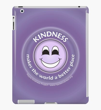Kindness Makes The World a Better Place - Purple Cases iPad Case/Skin