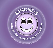Kindness Makes The World a Better Place - Purple Cases by RippleKindness