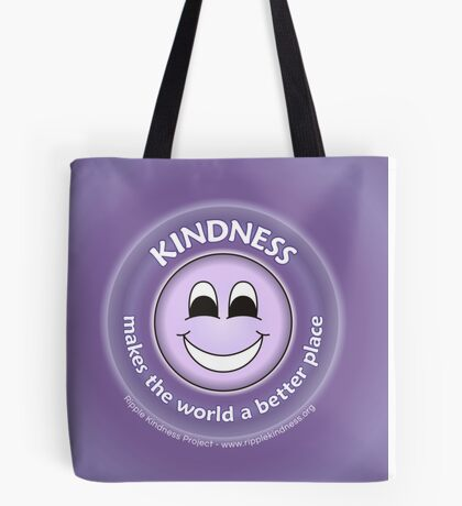 Kindness Makes The World a Better Place - Purple Cases Tote Bag