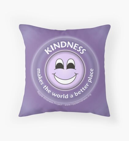 Kindness Makes The World a Better Place - Purple Cases Throw Pillow