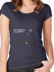 Wireless Birds Women's Fitted Scoop T-Shirt