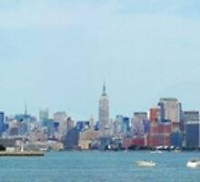 NYC & Ellis Island Panoramic by australiansalt