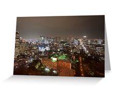tokyo city lights Greeting Card