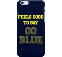 GO BLUE iPhone Case/Skin