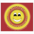 Kindness Makes The World a Better Place - Yellow Sticker by RippleKindness