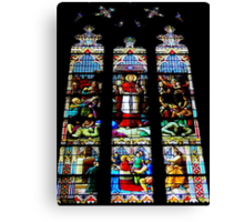 Stained Glass in St. Patrick's Cathedral - NYC Canvas Print