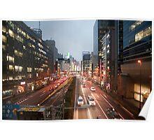 urban tokyo streets Poster