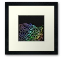 Rainbow Kittens Framed Print