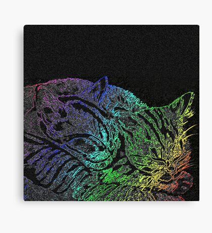 Rainbow Kittens Canvas Print