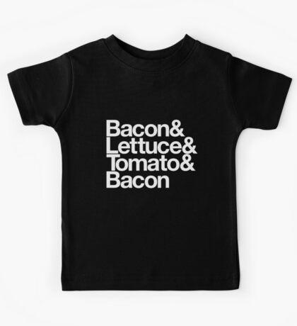 Bacon & Lettuce & Tomato & Bacon Kids Tee